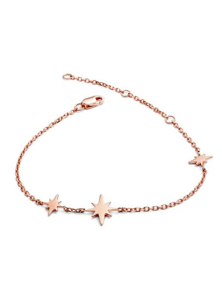 Chavin Rose gold three star bracelet