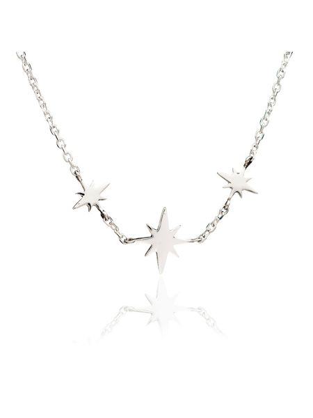 Chavin Silver three star necklace