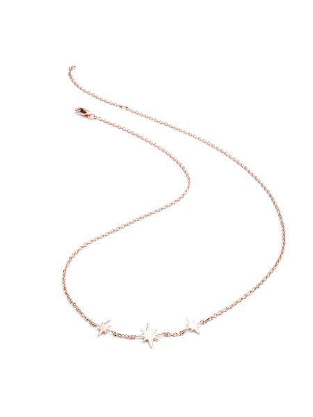 Chavin Rose gold three star necklace