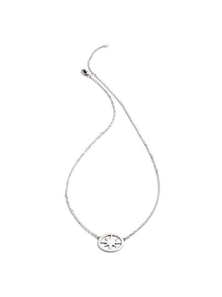 Chavin Silver circle star necklace