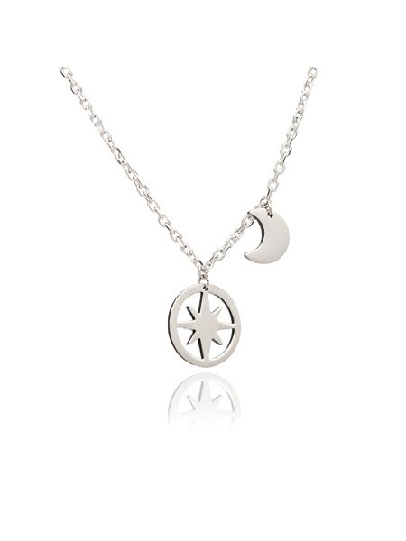 Chavin Silver moon and star pendant