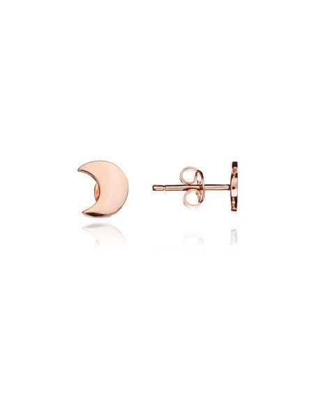 Chavin Rose gold moon studs