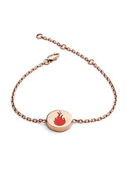 Rose gold fire feline bracelet