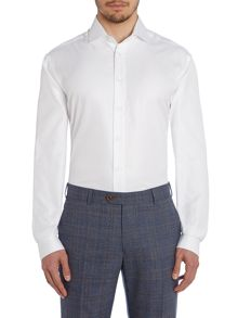 Magee Plain Tailored Fit Long Sleeve Shirt