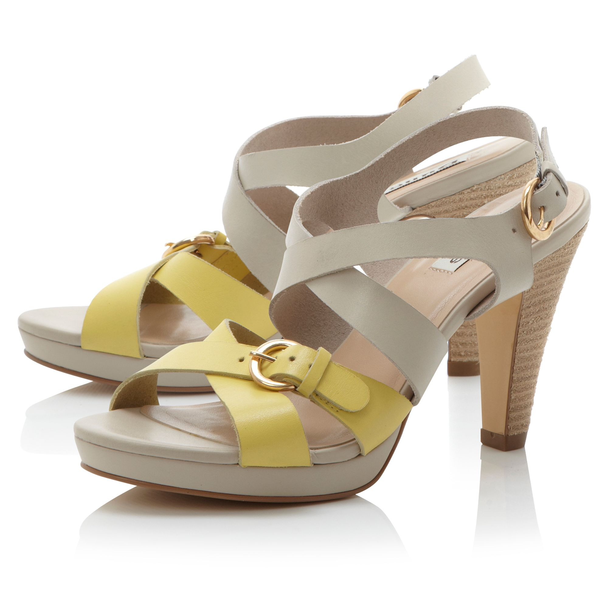 Feminine cross strap heel sandals