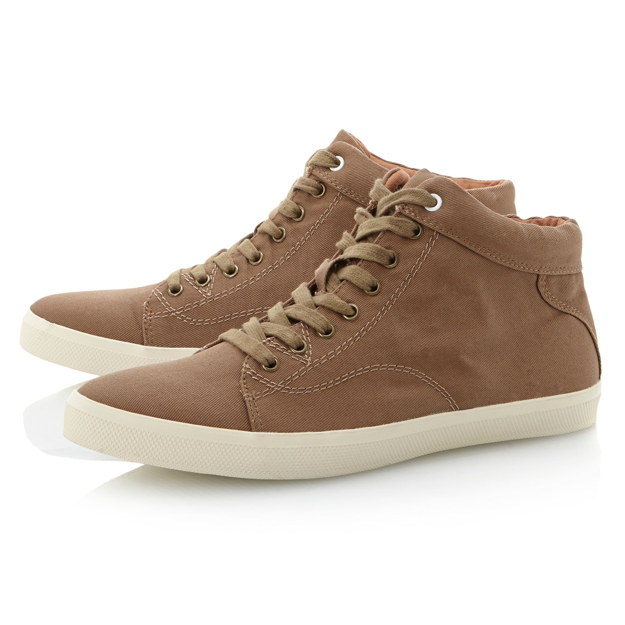 Sampson canvas cupsole lace hitop shoes