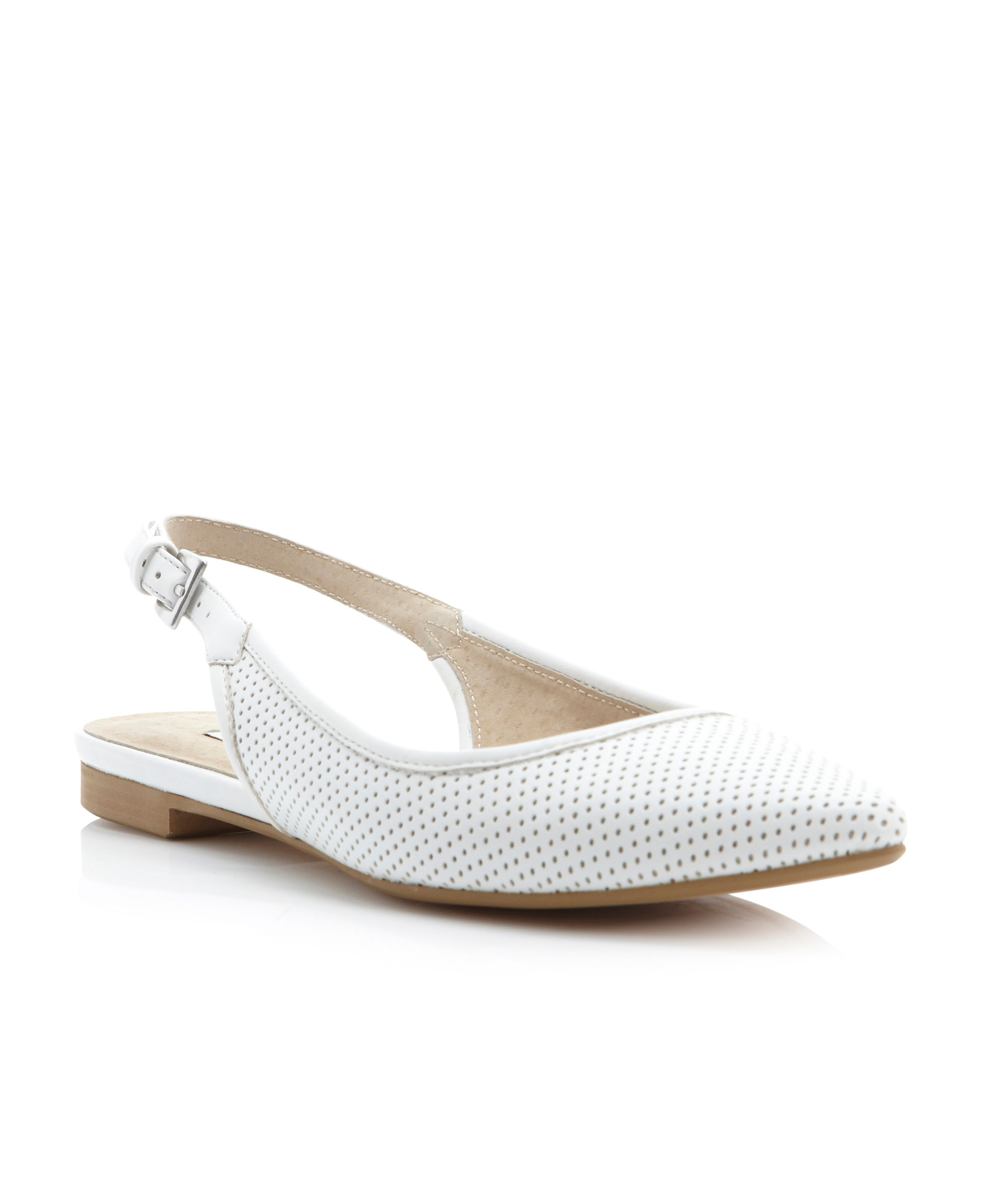 Mardisling perforated slingback ballerina shoes