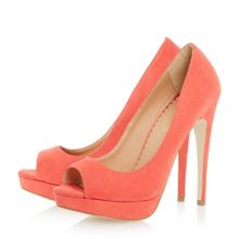 Cabrilla peep toe platform court shoes
