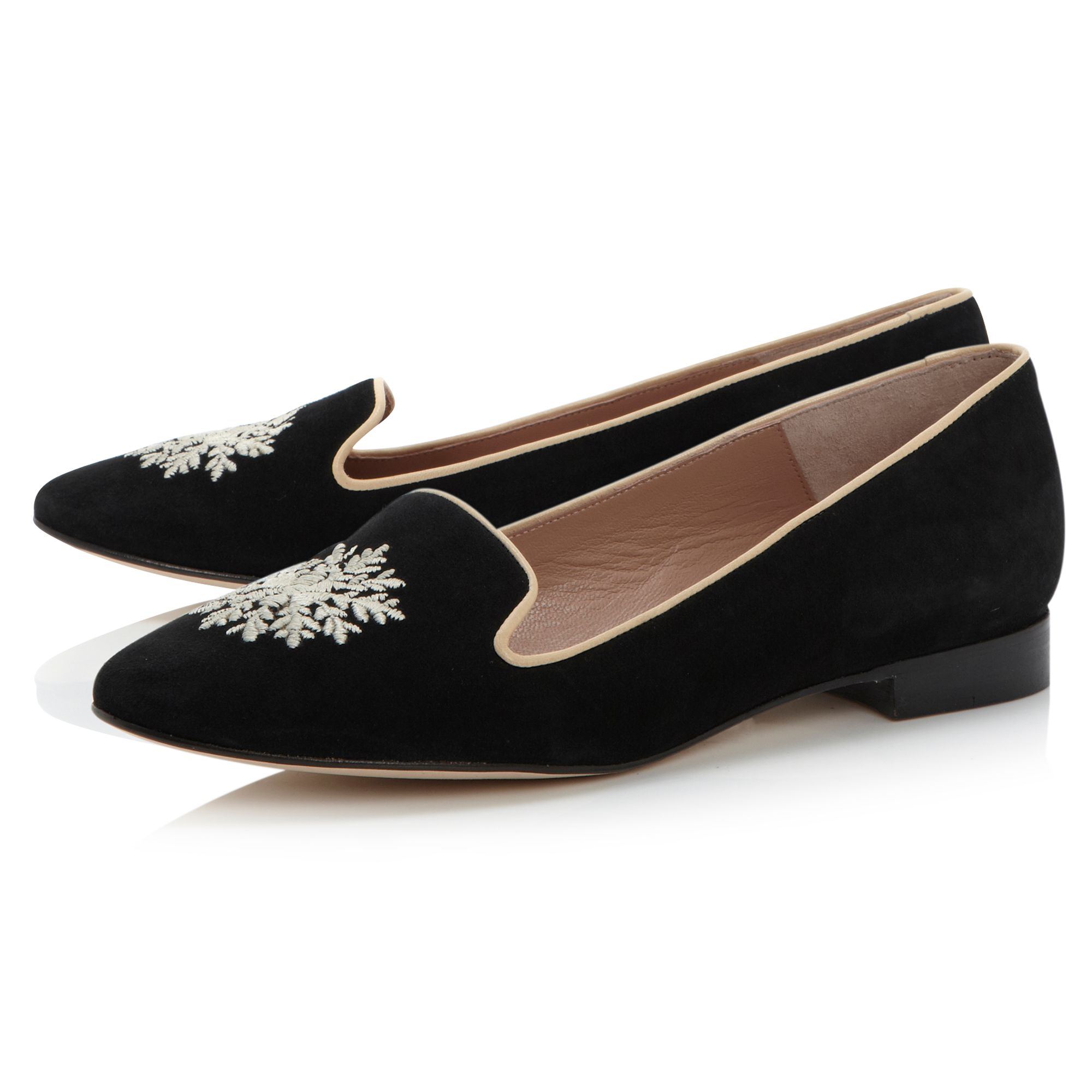 Gurleen embroided slipper loafer shoes