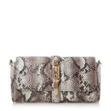 Bushu buckle detail clutch bag