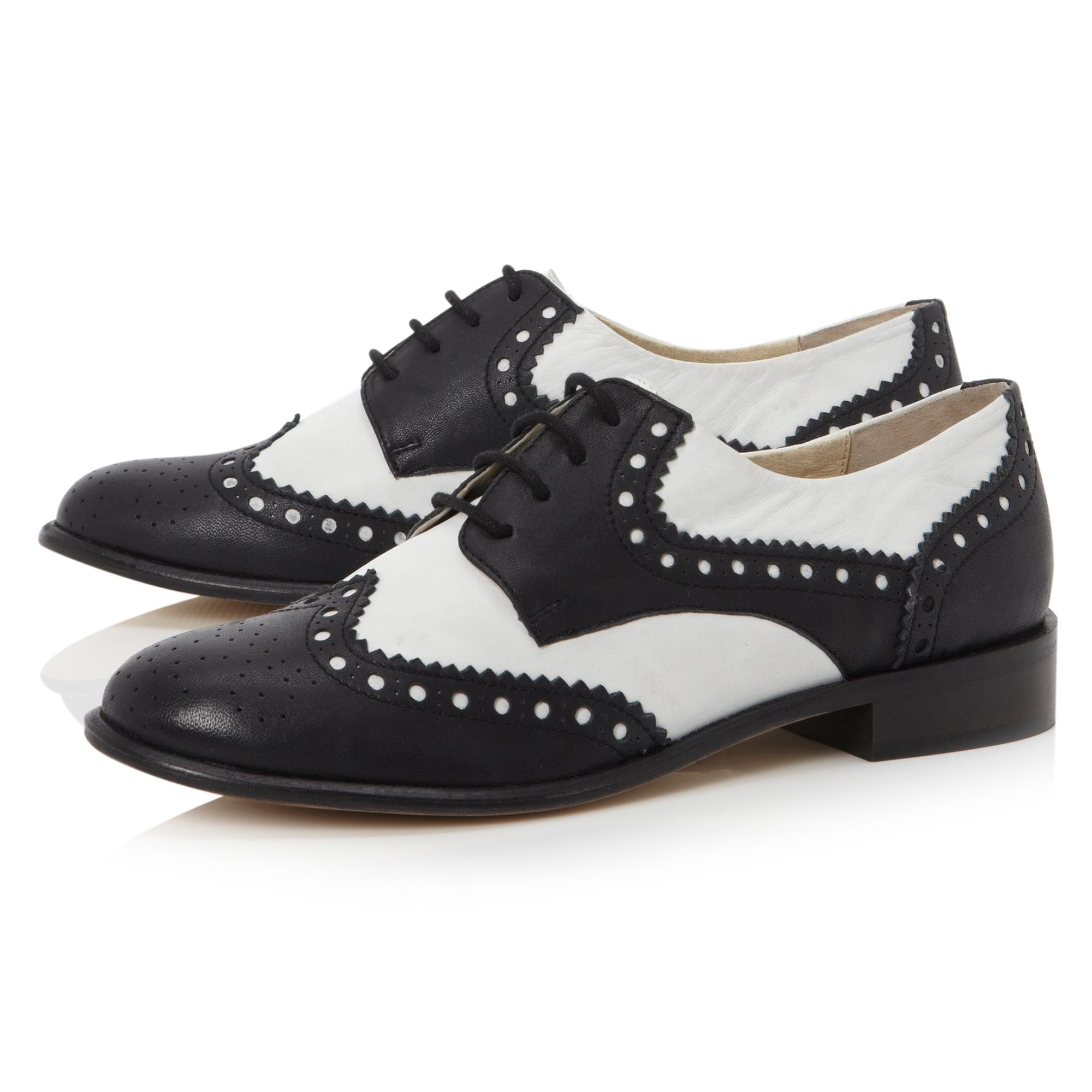 Langbury structured lace up brogue shoes