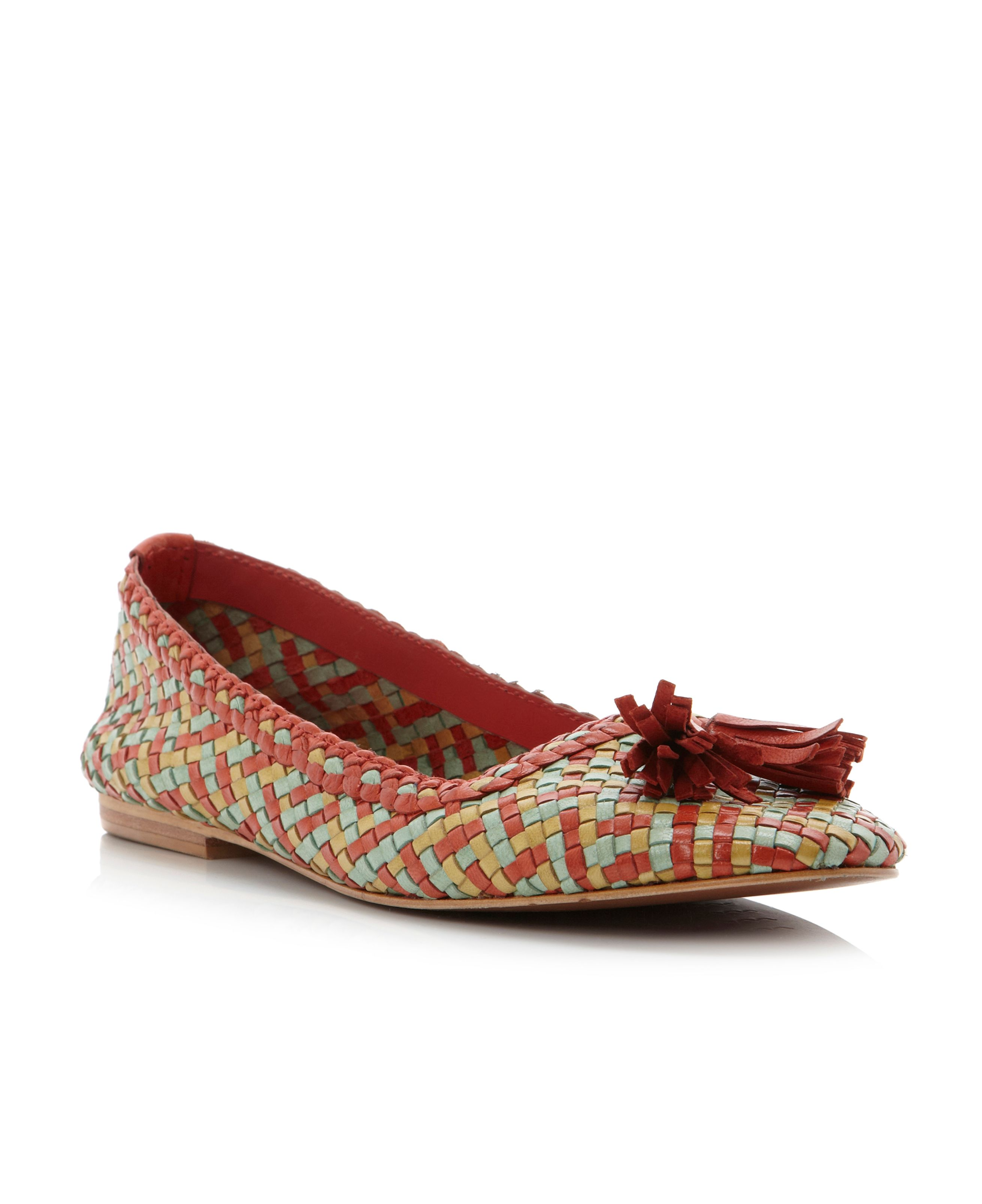 Louisetta woven tassel loafer shoes