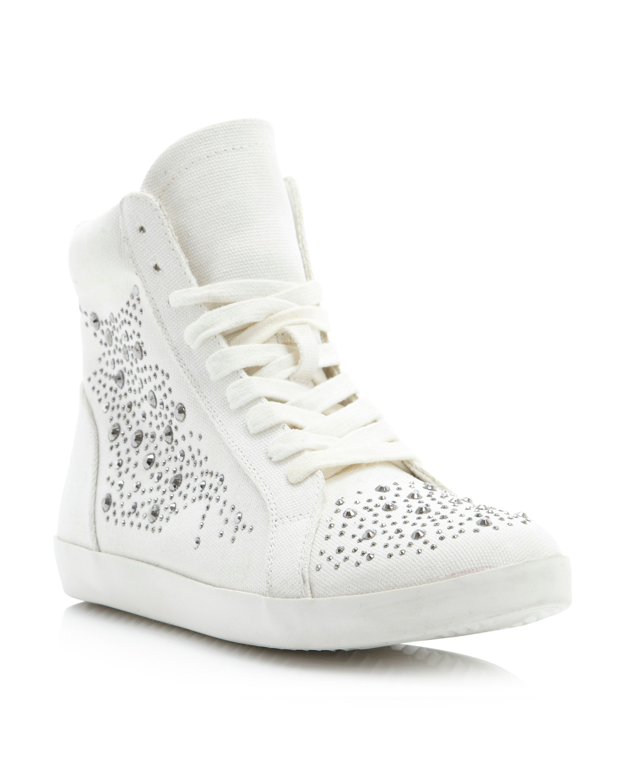 Lavo embellished high top trainer shoes