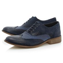 Baker boy canvas combo wingtip shoe
