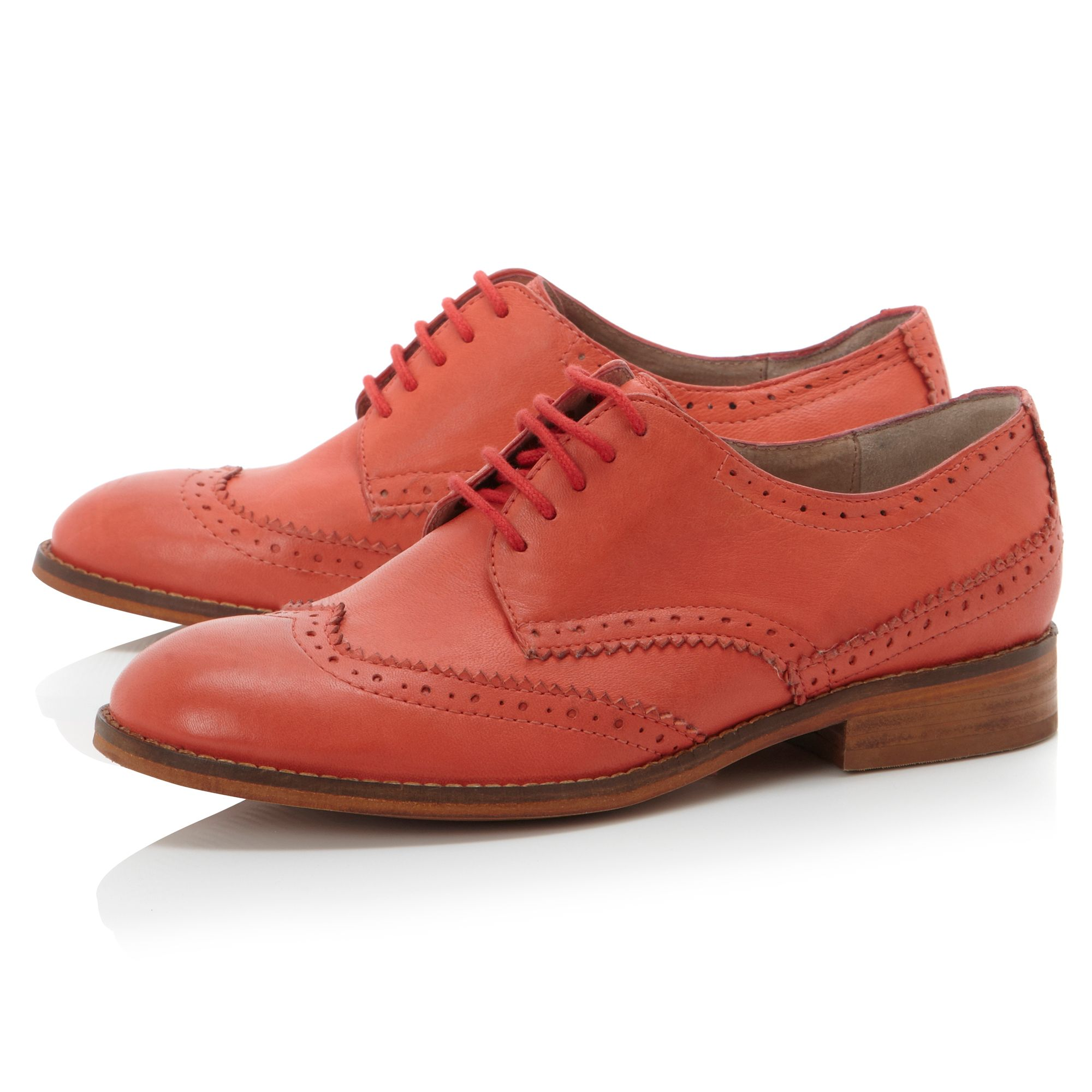 Lunda soft lace up brogue shoes