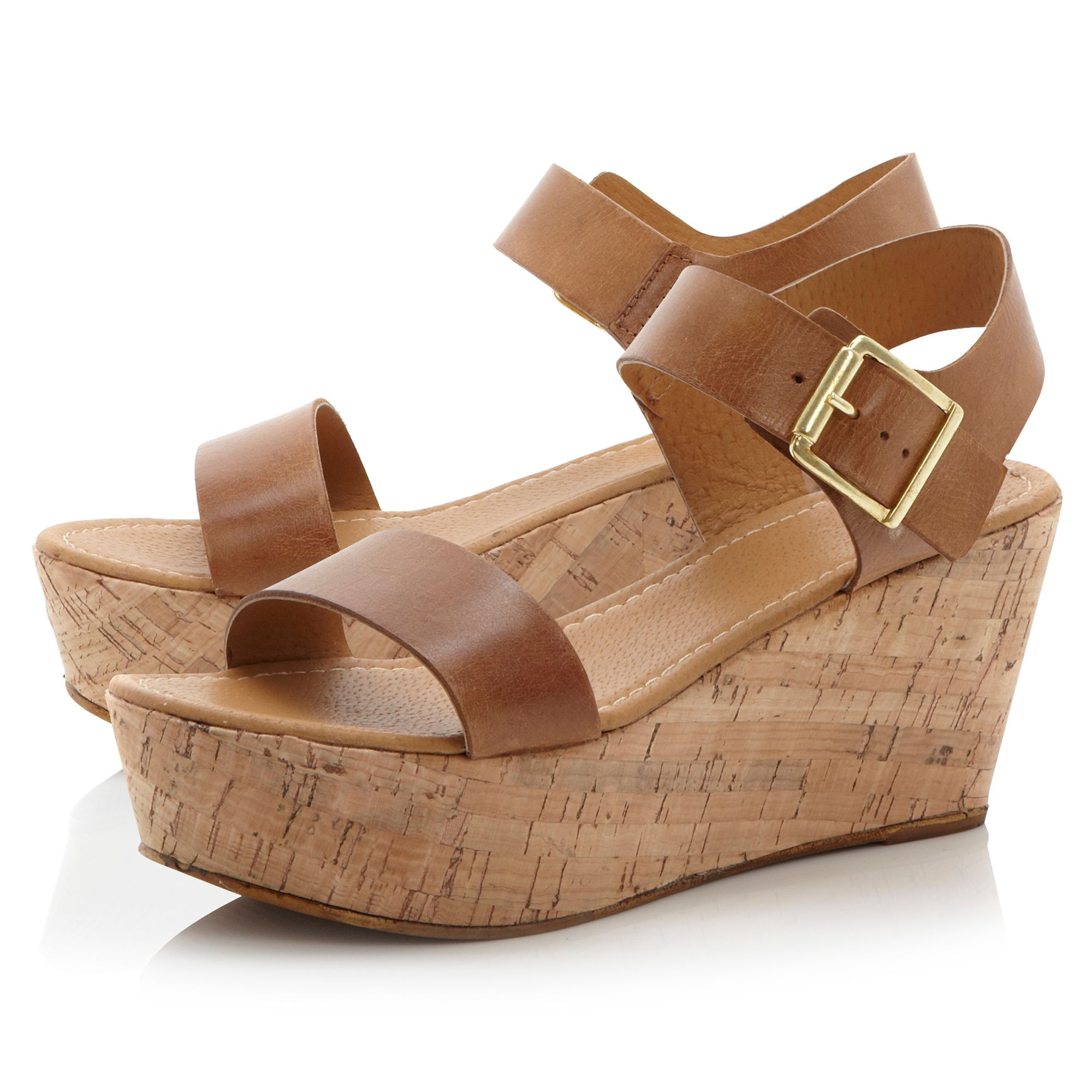 Golinda simple cork wedge sandals