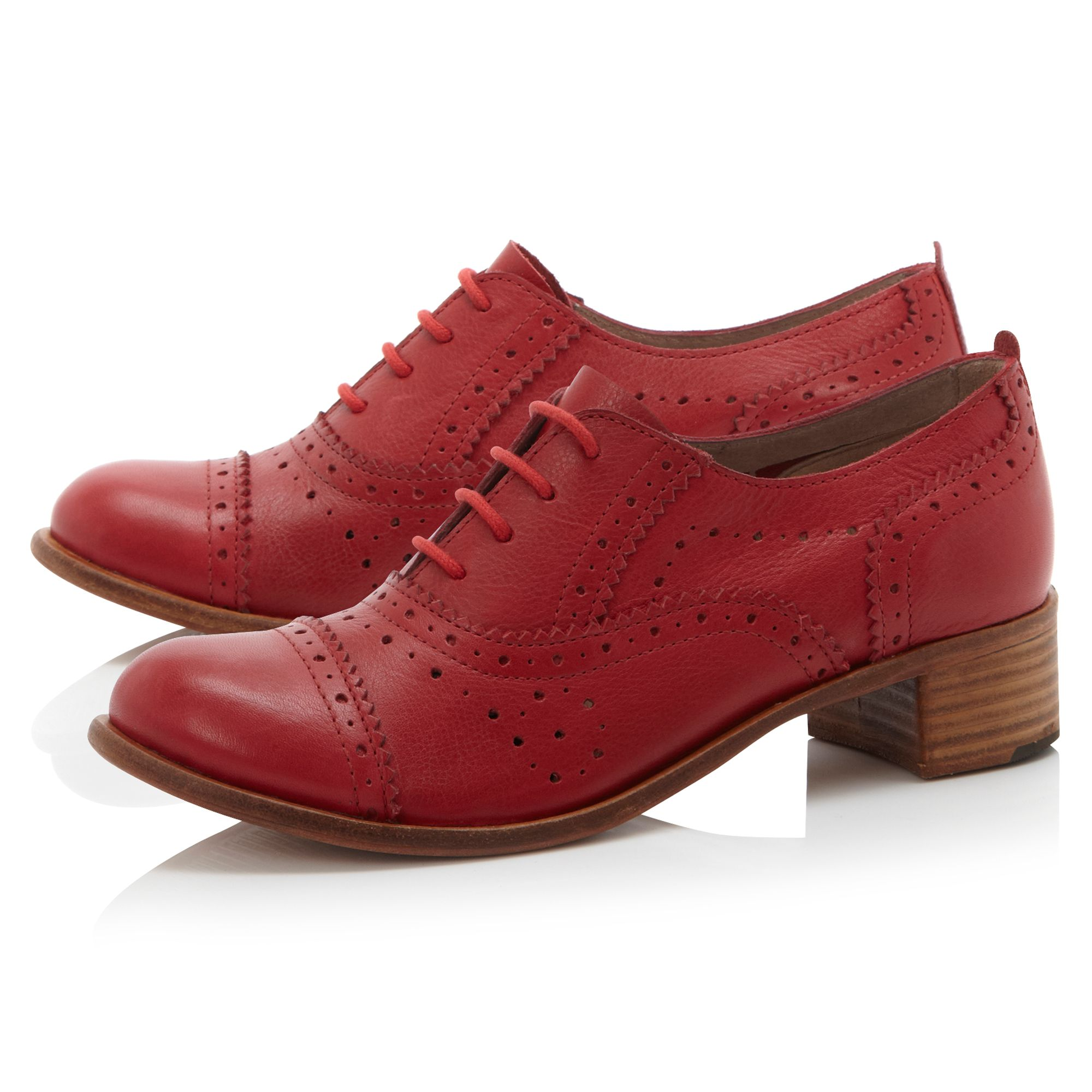 Branell heeled town lace up shoes