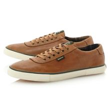 Valiant vulcanised leather trainer