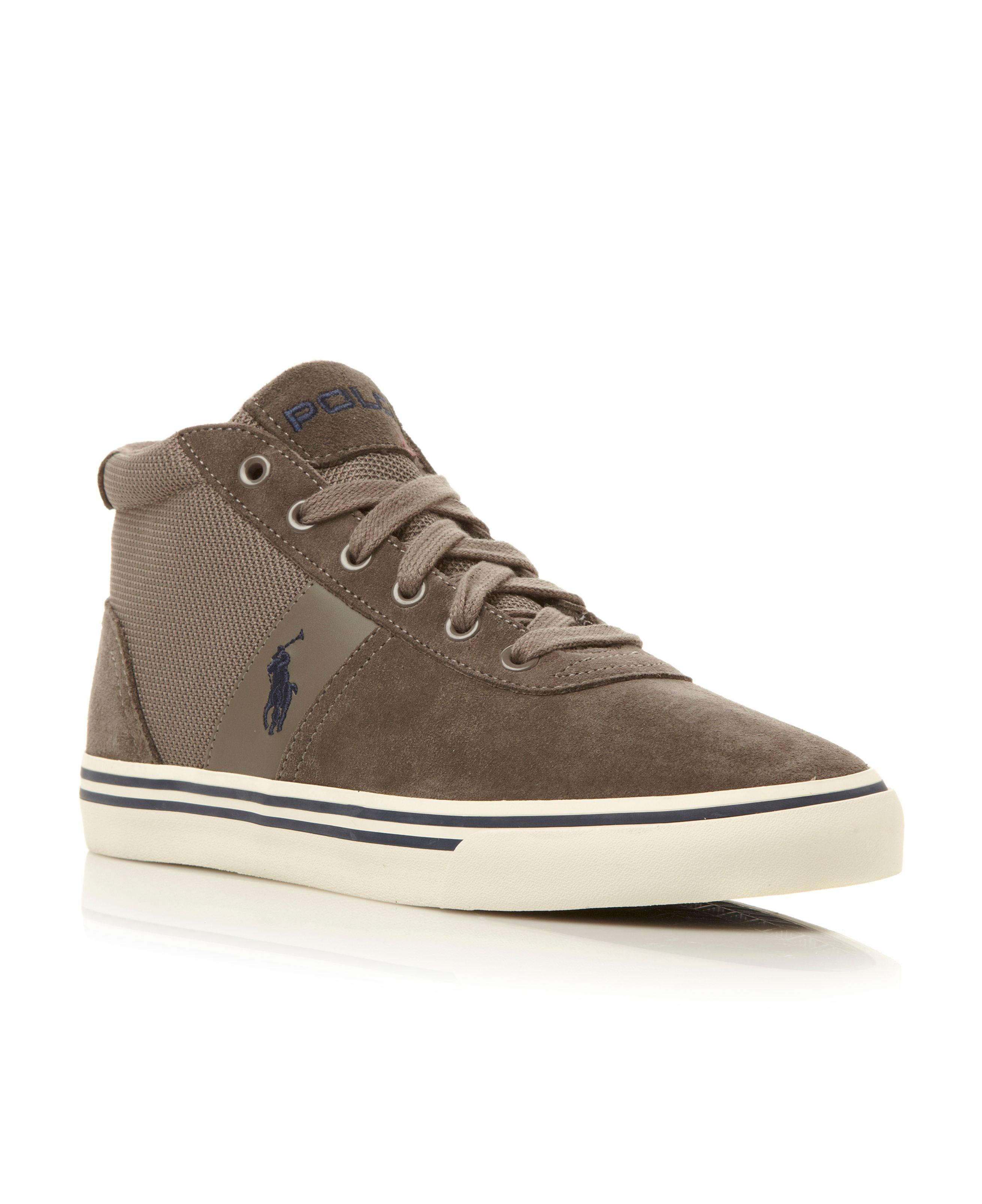 Hanford mid vulcanised suede hi top