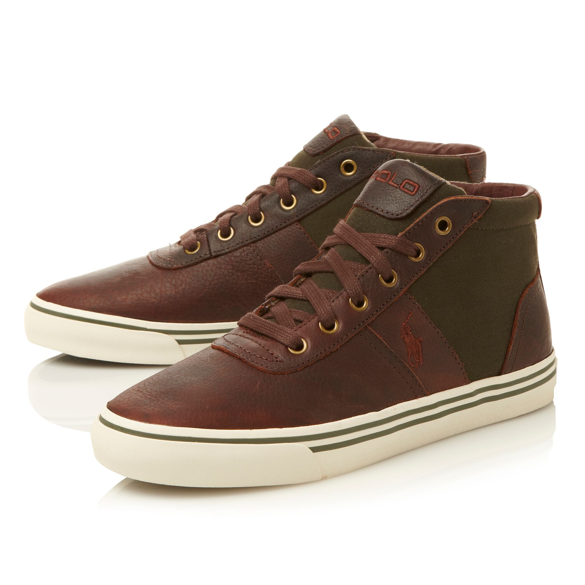 Hanford mid vulcanised leather hi top