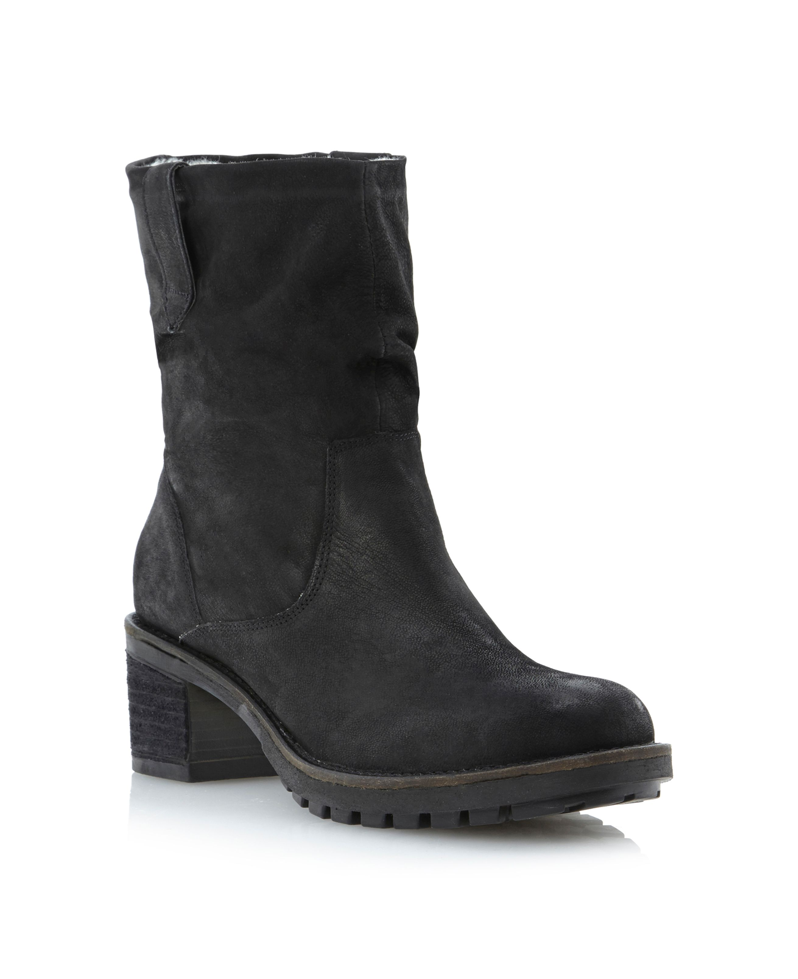 Pepps-shearling lined cleated sole boots