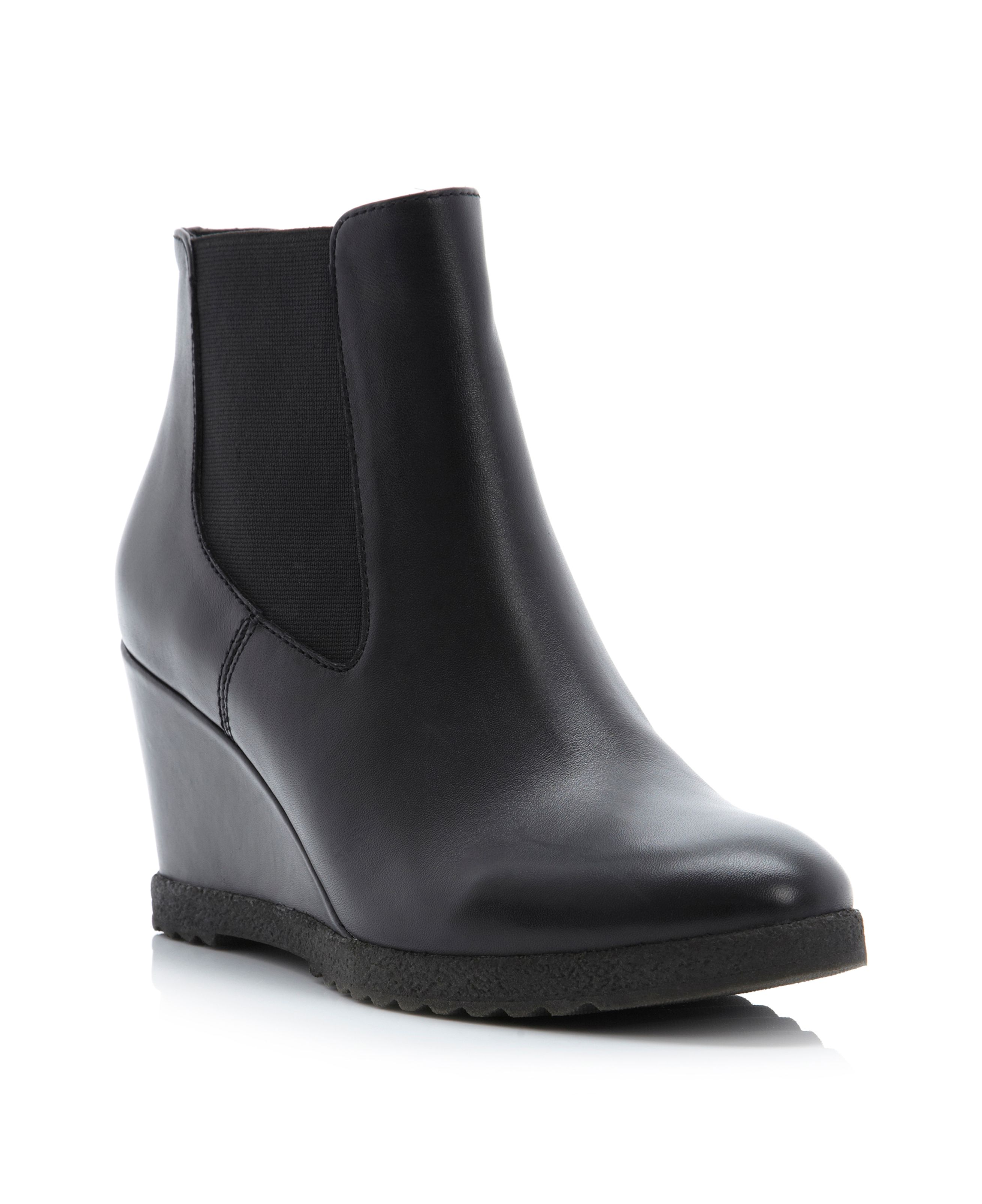 Pontin wedge chelsea low boots