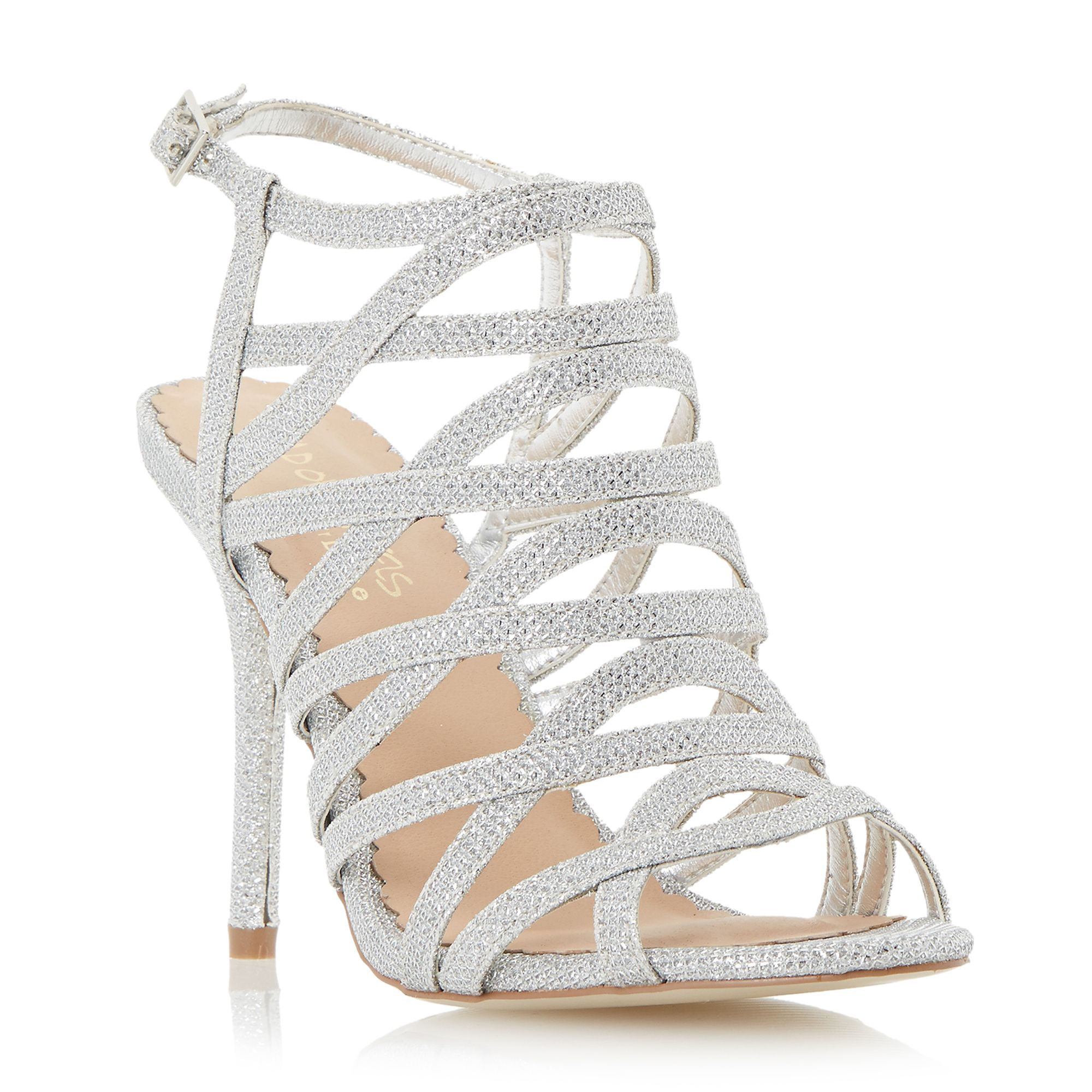 Head Over Heels Manara strappy heeled sandal, Silver