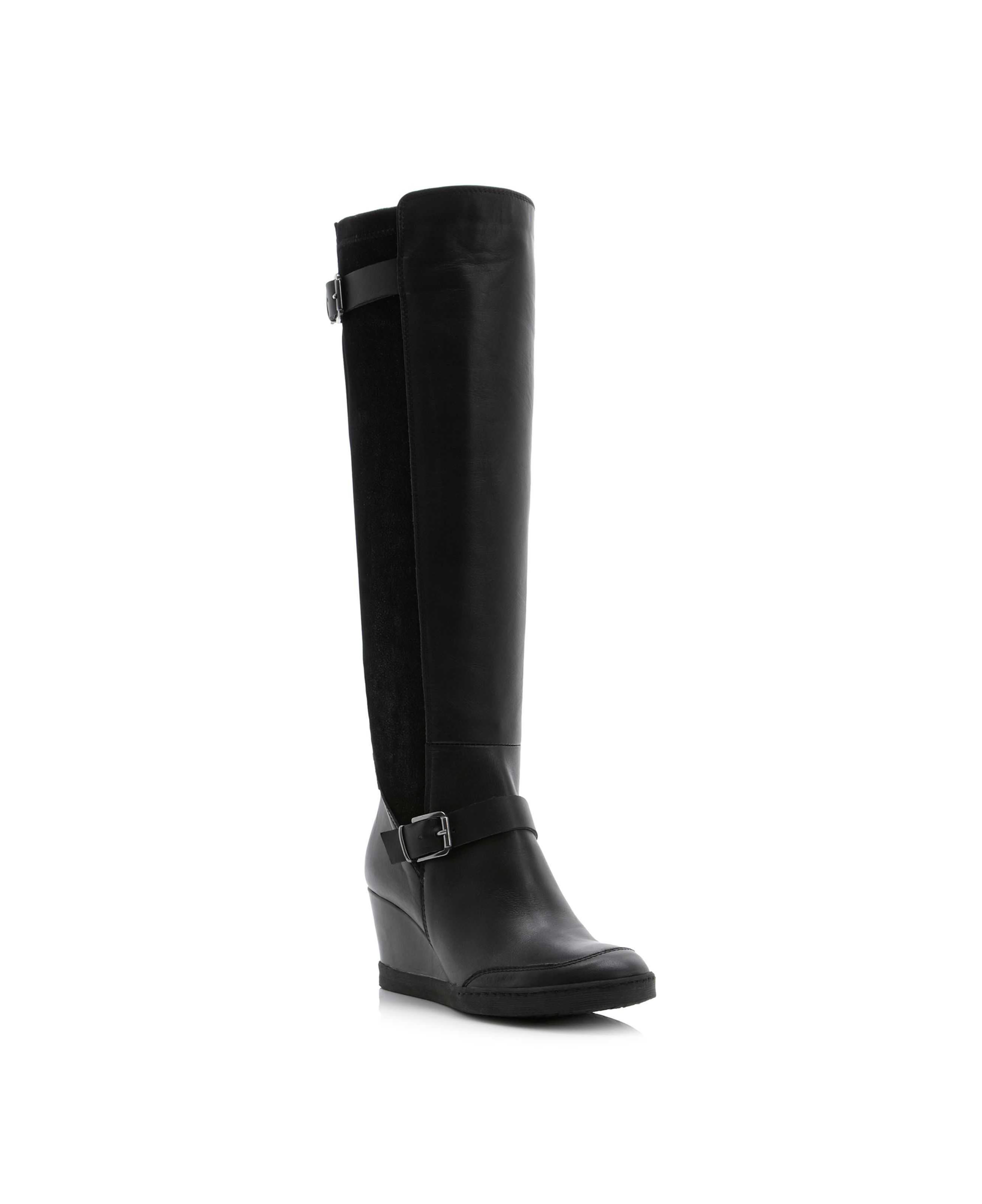 Toddy back stretch wedge boots