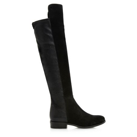 Dune Trish mix material stretch boots