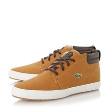 Lacoste Ampthill terra leather high top trainers