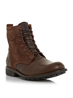Timberland Mixed material lace up boots