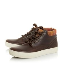 Cupsole leather hi top boots