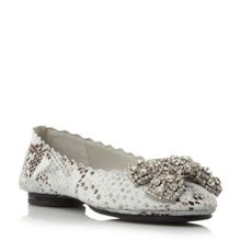 Harra diamante trim ballerina shoes
