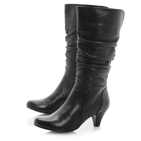 Dune Reta rouched dressy calf boots