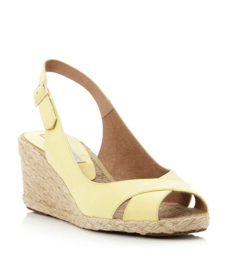 Pied a Terre Lata cross vamp slingback wedge shoes
