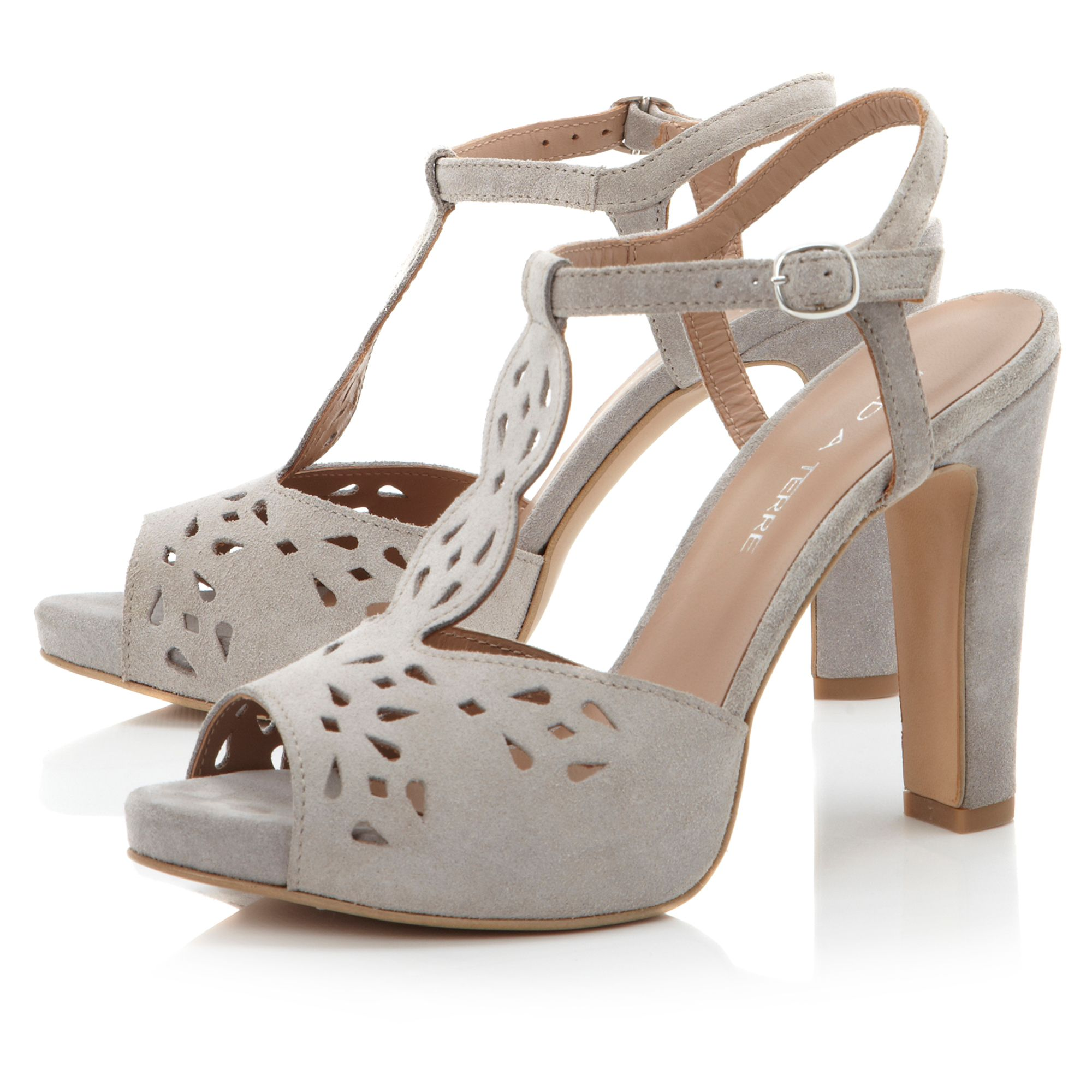 Lesh t-bar laser cut sandals