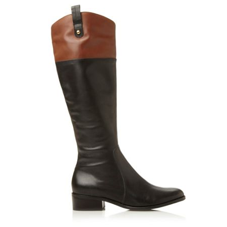Dune Trilbury contrast collar riding boots