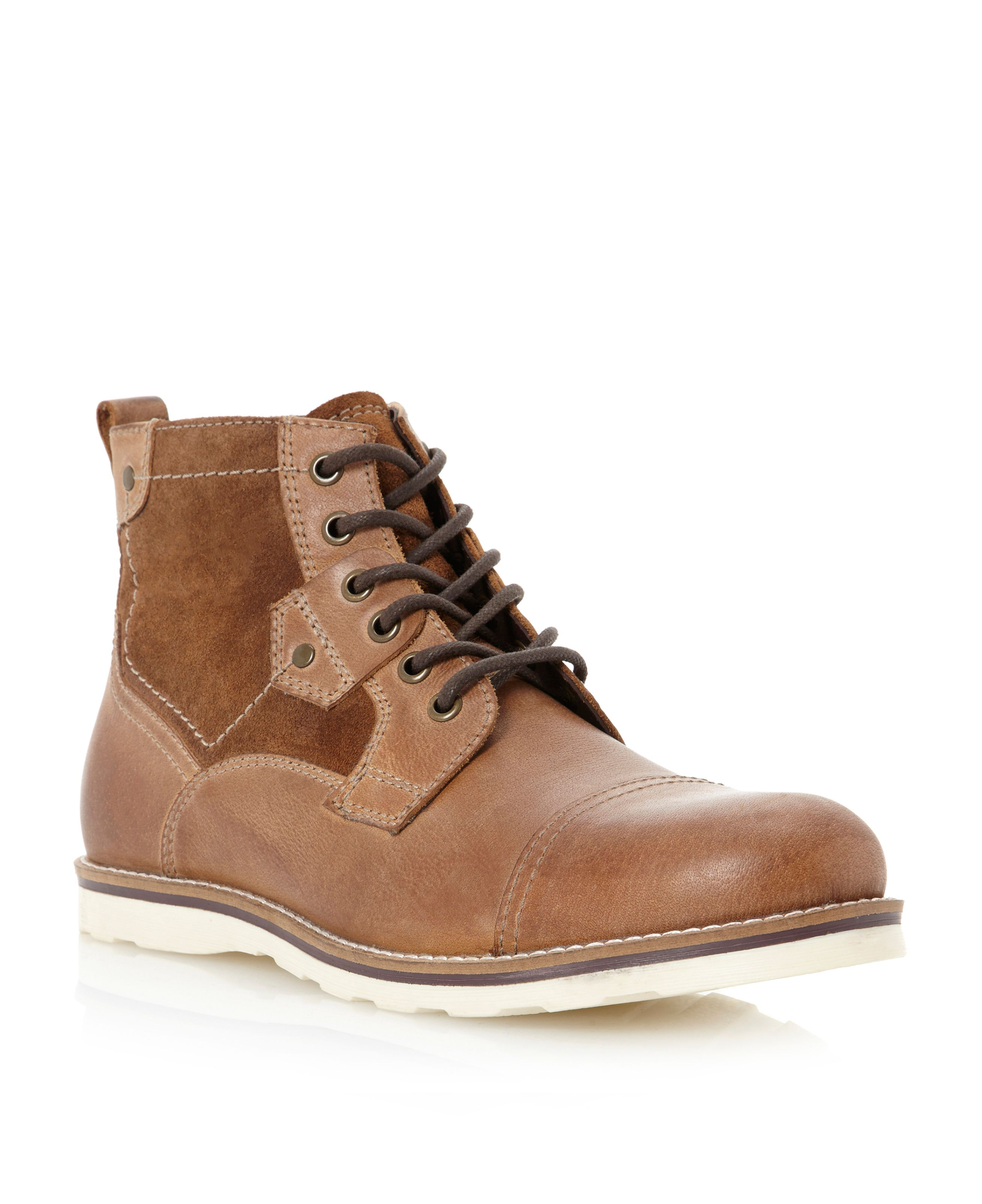 Chris contrast sole toecap boot