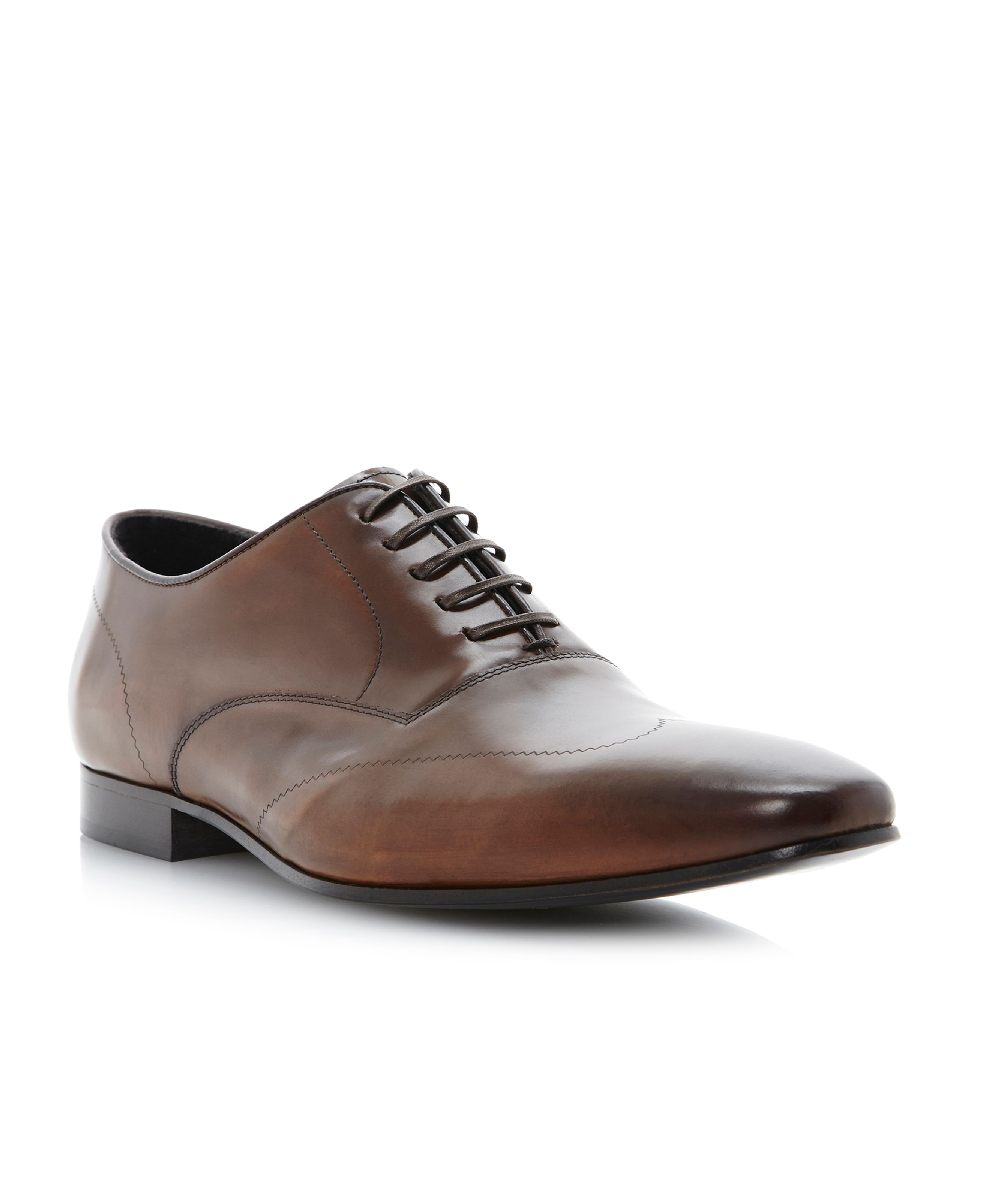 Aldershot laser etched wingtip shoes