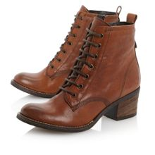 Peetons-lace up heeled ankle boots
