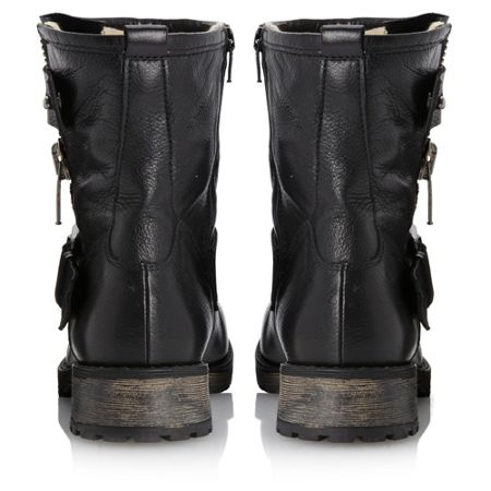 Promey-side zip biker boots