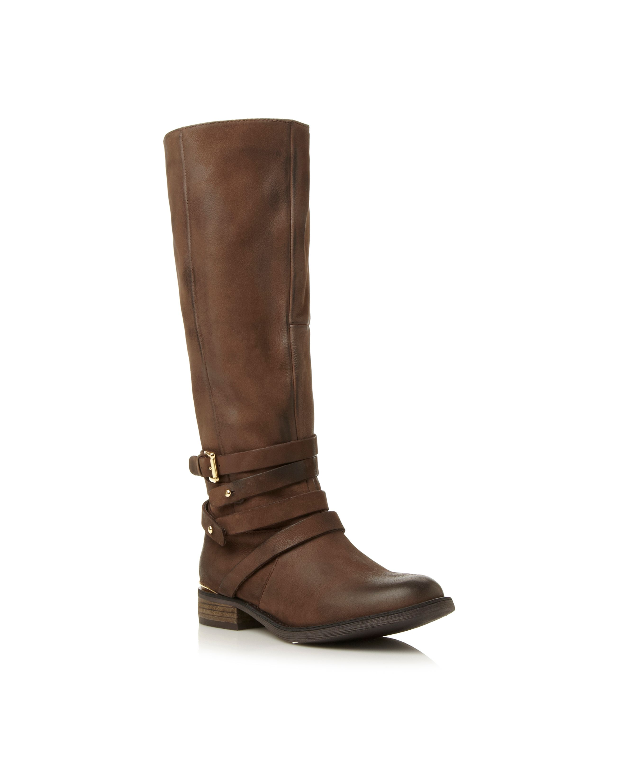 Albany SM buckle knee high boots