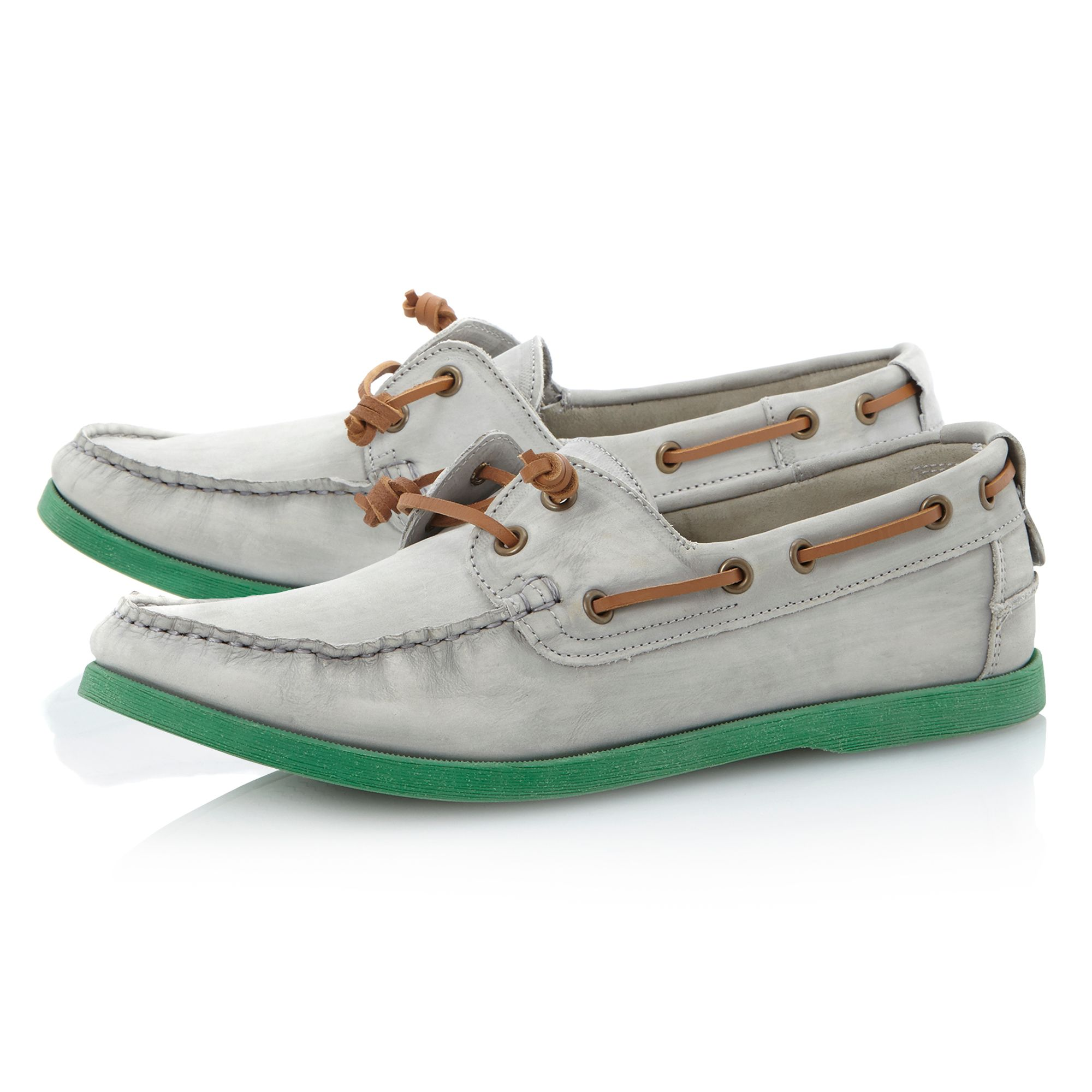Bassett pastel boat shoes