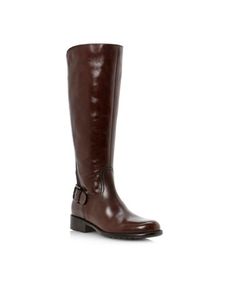 Dune Toffee buckle cleated riding boots
