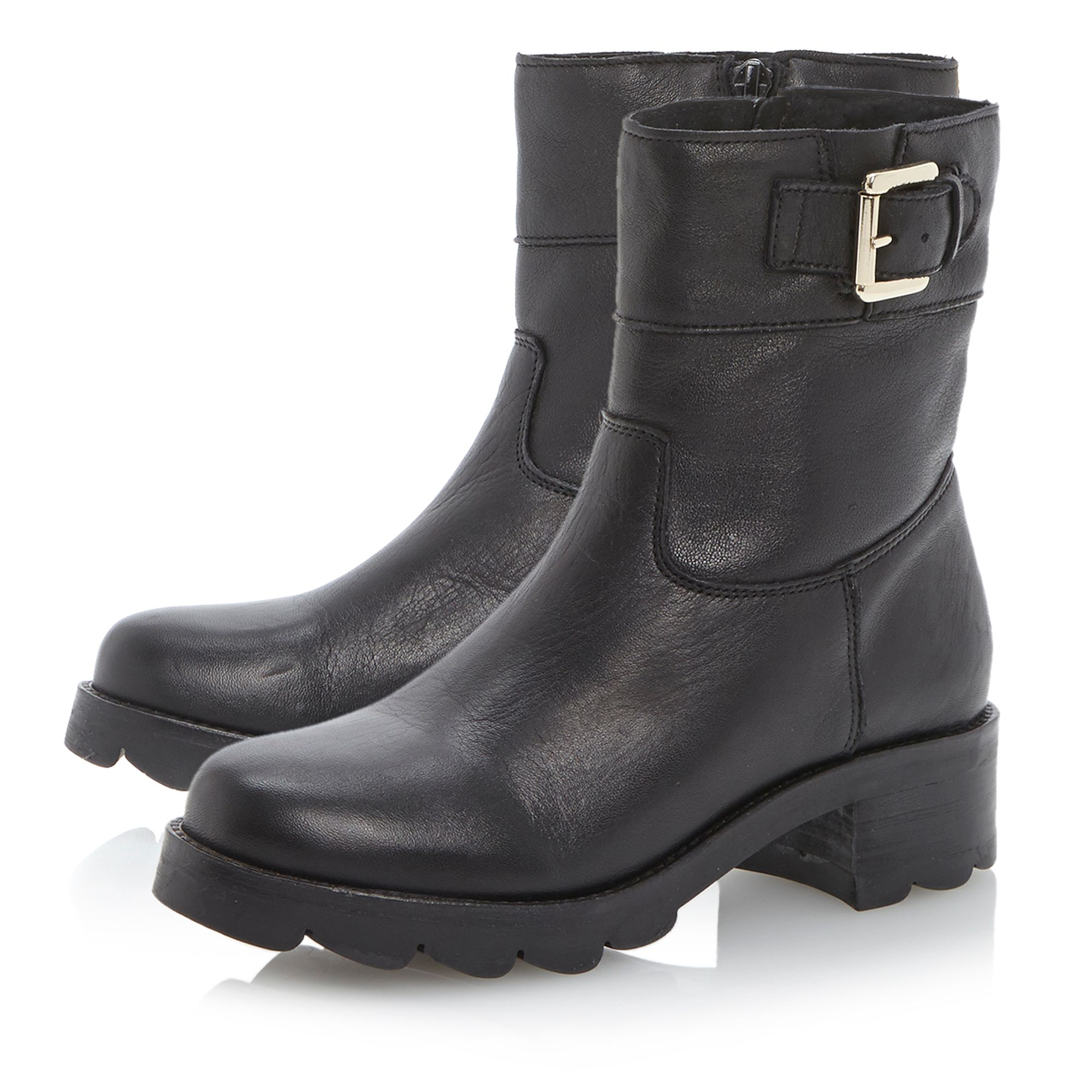 Reem heavy cleated sole biker boots