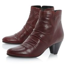 Nuneaton rouched vamp ankle boots
