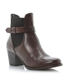 Pompei side gusset ankle boots