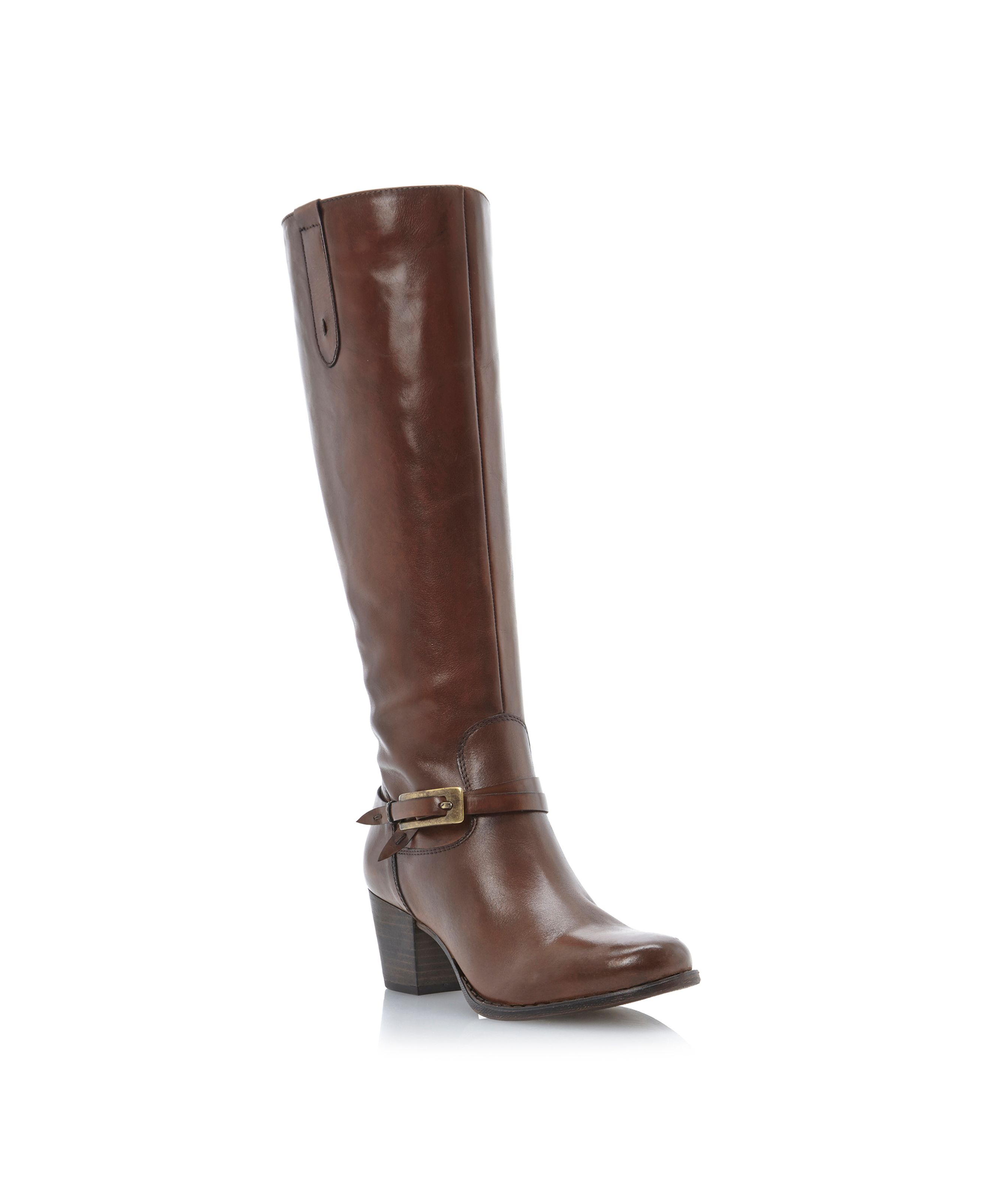 Salcombe side buckle detail hi leg boots