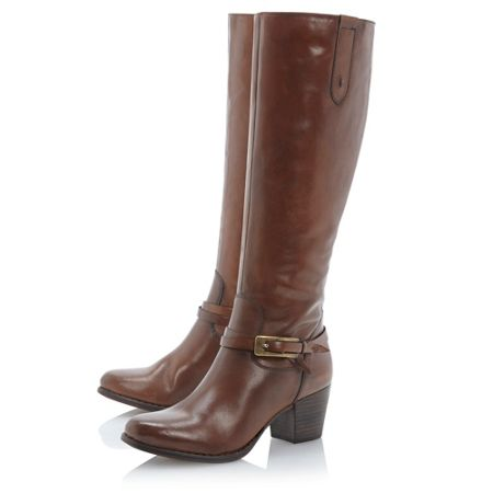 Linea Salcombe side buckle detail hi leg boots