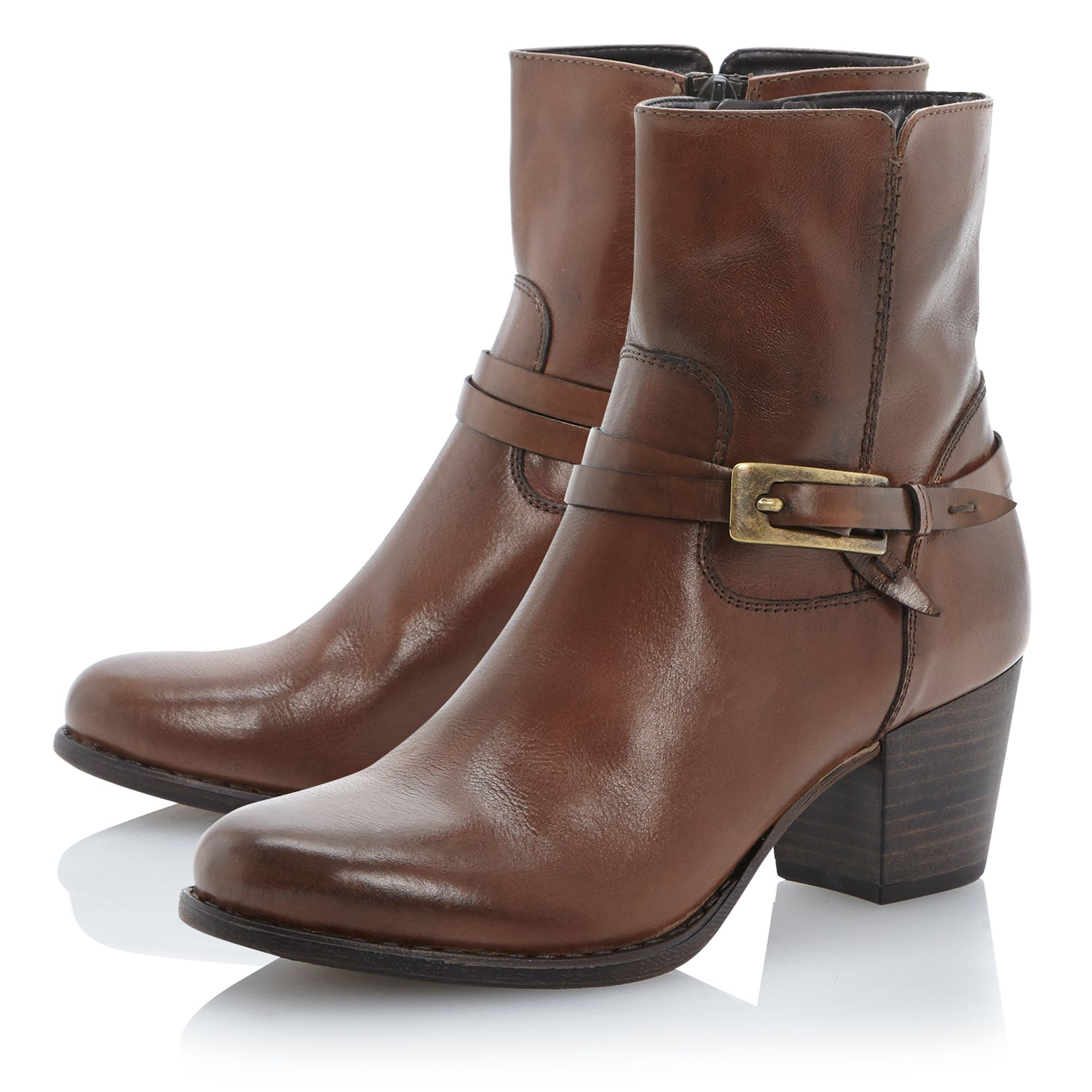 Norwich side buckle detail ankle boots